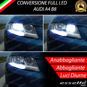 CONVERSIONE FARI FULL LED AUDI A4 B8 ANABBAGLIANTE ABBAGLIANTE LUCI DI POSIZIONE