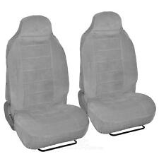 2pc High Back Encore Velour Seat Covers Front Pair in Gray