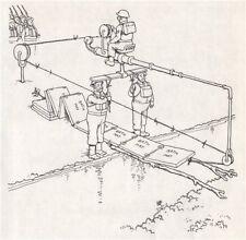 HEATH ROBINSON. Cork mat method of crossing streams. Second World War 1973