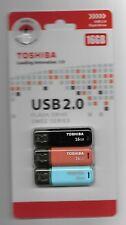 Toshiba Sm02 Series 16 GB X 3 USB 2.0 Flash Drive 3xpack