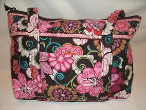Vera Bradley Little Betsy Mod Floral Pink Shoulder Bag and Wristlet Clutch Purse