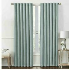 Insola Rockwell 108-Inch Rod Pocket Room-Darkening Window Curtain Panel in Aqua