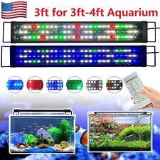 New listing 3-4Ft Aquarium Led Light Full Spectrum Led Aquarium Fish Tank Lighting Rf Dimmer