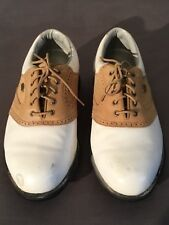 Mens Etonic Size 10 Oxford Leather Golf Shoes Medium Spiked Cleats