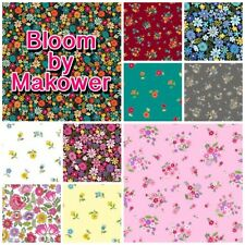 Makower BLOOM Floral Garden Flowers 100% Cotton Patchwork Fabric