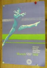 ORIGINAL Plakat - Olympische Spiele 1972 / Motiv Bodenturnen - A0