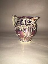 Staffordshire Pearlware Pink Luster Pitcher Floral Vines Ca. 1820