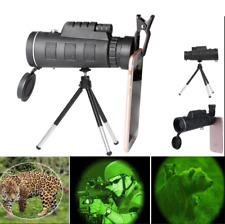 Monocular 40X60 Zoom Optical HD Lens Telescope + Tripod+ Clip For iPhone Samsung