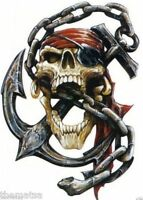 SKULL CHAIN MOTORCYCLE HELMET BUMPER STICKER DECAL MADE IN USA