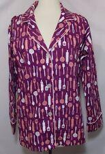 BedHead Pajamas by Renee Claire Top Baker Utensil Purple Pink Long Sleeve Medium