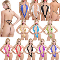 Womens Backless Micro Monokini Thong Swimwear Swimsuit Nightwear Teddy Bodysuit