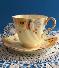 Rare Antique ORIGINAL Royal Paragon Cup & Saucer By Appointment YELLOW England