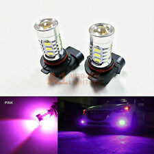 2x Pink 9005 15w High Power Bright Car LED Bulbs 5730 15 SMD High Beam Headlight