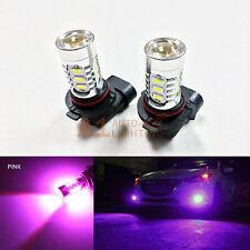 2x Pink 9005 15w High Power Bright Car LED Bulbs 5730 15 SMD High Beam Headlight