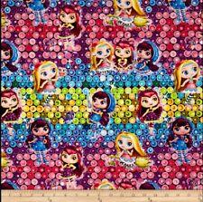 Nelvana Little Charmers Girls Ombre Sequins Half Yard 45cm x 110cm Cotton 100%