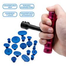 Car 18pcs Tabs & T-Bar Hammer Puller Lifter Paintless Dent Pit Repair Tool Kit