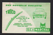 """NEUILLY (92) ESSUI-GLACE pour CITROEN DS """"S.E.V. MARCHAL"""" Publicité 1960"""