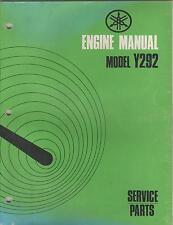 1971 YAMAHA ENGINES SNO JET Y292 SERVICE PARTS