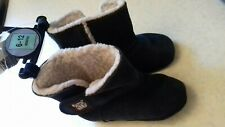Unworn never used.Baby 6 To 12 Months Blue Suede Boot Shoes M&S Marks & Spencers