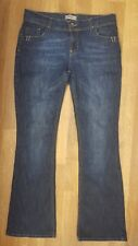 Next Ladies Boot Cut Jeans Size 12 L Long Blue Navy cotton denim Tall