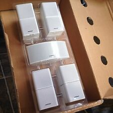 5 Bose Jewel Double Cube Speakers Including Center Channel (horizontal) White.