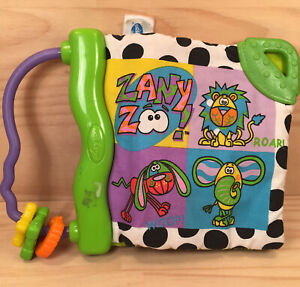 """PLAYGRO """"Zany Zoo"""" Gorgeous Baby's Padded Book Children's Soft Cloth Reading Toy"""