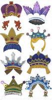 FUN CROWNS Hats Prince  - Jolee's Le Grande Scrapbook Craft Sticker - SALE
