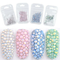 3D Mix Size Colorful Rhinestones Flat Back Diamante Crystal Nail Art Craft Gems