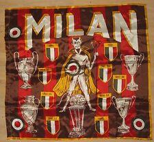 SCIARPA SCARF BANDIERA FLAG CALCIO ULTRAS MILAN ANNI 70 RASO LUCIDA (154)