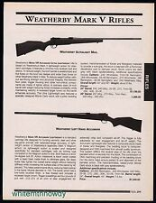 2000 WEATHERBY Mark V Ultralight Mag and Left-Hand Accumark Rifle AD
