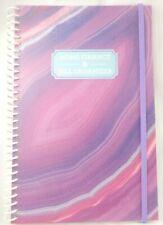 Bill Organizer Amp Home Finance Book Monthly Pockets Pink Purple Marble Swirl New