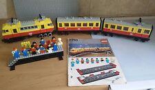 LEGO 12V 7740 Inter-City Passenger Train 12 Volt Gray Railway Track Eisenbahn