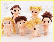 9cm Doll for mini ddung dolls with brown bun hair baking mold kid girl toys 2017