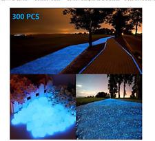 300pcs Glow in the dark Garden Pebbles, Gardening Luminous Glow Stones Decor