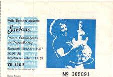 ticket billet used stub place concert SANTANA 1987  PARIS
