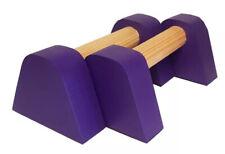 Purple Mini PBarZ® Wooden Parallettes Handstand Gymnastics Yoga fit Bars