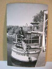 Capt of Viking II Scenic Boat Tour Vintage Photo Postcard Wisconsin Dells