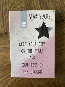 Star Socks. Boxed New. Gift.