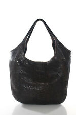 Fatto a Mano By Carlos Falchi Brown Multi-Color Snakeskin Python Large Hobo Bag
