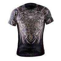 Mens Peresvit Glory T-shirt Skull Sword Xtreme Couture Affliction Ed Hardy style