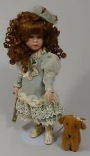 Alberon Porcelain Doll JASMINE with Designed Dress, Stand & Box