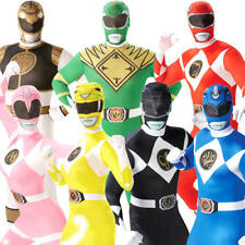 Adults Power Rangers Mens Ladies Fancy Dress Superhero Ranger Costume Outfit New