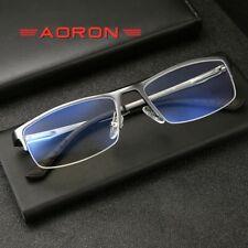New Men Business Optical Eyeglass frames Anti-Blue Ray Myopia Spectacles Glasses