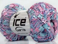 Triplets Butterfly Ribbon Yarn - Blue, Pink, Lilac Ice 50gr 164yds 42098