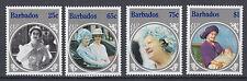 Barbados 633 - 636 postfrisch 85. Geburtstag von Königinmutter Elisabeth
