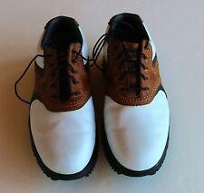 Footjoy Countour Series Sz 8M Brown & White Saddle Golf Shoes