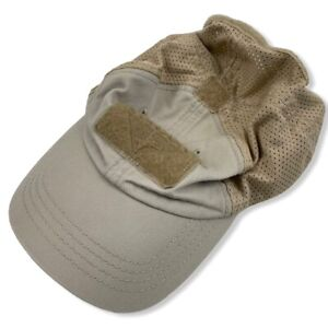 Condor Tactical Strapback Cap Hat Adjustable Tan TCM-003 Mesh Back Hook & Loop