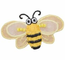 """Bumblebee Applique Patch - Layered, Beads, Honey Bee 2-5/8"""" (Iron on)"""