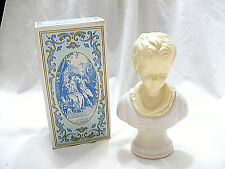 Vintage Avon Young Boy 18th Century Figurine Bust Moonwind Cologne Bottle Full