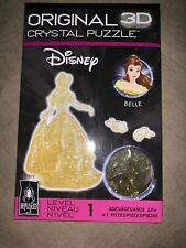 Bepuzzled Level 1 41-Piece 3D Crystal Puzzle Disney Belle Gold Free Shipping